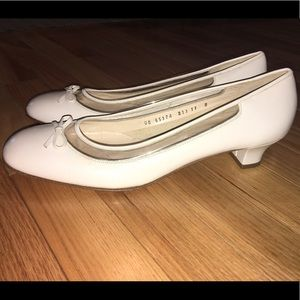Salvatore Ferragamo Vintage Kitten Heel Pumps
